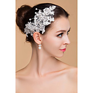 blanc pur floral mariage bandeau de dentelle élégant