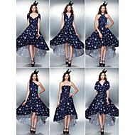 Convertible Dress Asymmetrical Knit Sheath/Column Cocktail Dress (2034736)