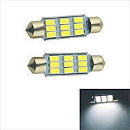 Carking™ Festoon 41mm-5630-9SMD Car LED Rome Lamp   White Light (12V/2PCS)