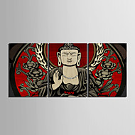 Stretched su tela Buddha Set di 3