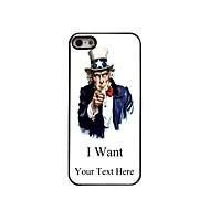 εξατομικευμένο δώρο θέλω σχεδιασμό μεταλλική θήκη για το iphone 5 / 5s