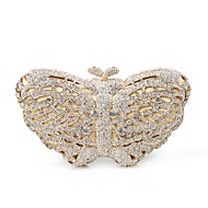 Miss Ricy Women's Crystal Butterfly Shape Evening Handbags/Clutches