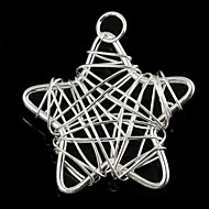 Fashionable Women'sStar-Shaped Wrapped Wire Silvering Pendants (1Pc)