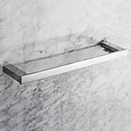 """Bathroom Shelf Stainless Steel Wall Mounted 560 x 130 x 30mm (20.1 x 5.11 x 1.18"""") Stainless Steel Contemporary"""