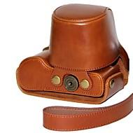 dengpin® læder aftagelig beskyttende kamerataske taske cover med skulderrem til Panasonic Lumix DMC-GX7 GX7