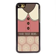 iPhone 5cのためのパーソナライズされた贈り物素敵なピンクのシャツのデザイン金属ケース