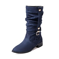 Women's Shoes Pointed Toe Chunky Heel Mid-Calf  Boots More Colors available
