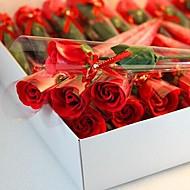 1 pcs cadeaux de vacances ont augmenté de fleurs de savon de forme