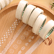 transparenter Spitze dekorative Scrapbooking Klebstoffe Band (10m Zufallsmusters 1 PC)