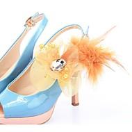 천으로 꽃 장식 신발 악센트 -set 6 (더 많은 색상)