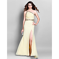 Formal Evening / Prom / Military Ball Dress - Daffodil Plus Sizes / Petite Sheath/Column One Shoulder Floor-length Chiffon