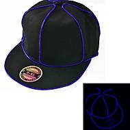 black light up hoed met blauw el draad geleid glow snapback 1AAA batterij