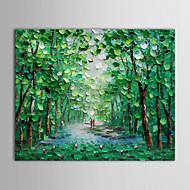 oljemaleri landskapet vandre langs en skogkledd bane med utstrakte ramme håndmalt lerret