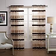 Dvije zavjese Prozor Liječenje Moderna , Dungi Living Room Polyester Materijal Sheer Zavjese Shades Početna Dekoracija For Prozor
