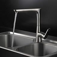 nichel spazzolato contemporanea finitura in ottone un foro maniglia bagno lavandino rubinetto girevole