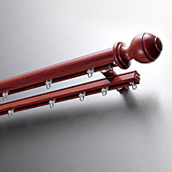30mm Diameter Upscale Red Brown Solid Aluminum Single Rod