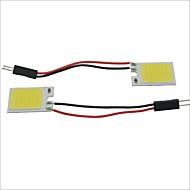 Carking™ T10 / BA9S / Festoon 28mm~40mm 2.5W 18-COB LED White Car Interior Dome Light(2PCS)
