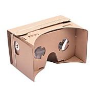 DIY google papp virtuelle virkelighet 3d briller for iphone 6 og Google Nexus 6 samsung mobiltelefoner