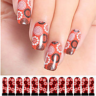 12st cirkel patroon rood watermerk nail art stickers c3-004