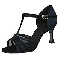 Non Přizpůsobitelné - Dámské - Taneční boty - Latina - Satén - Jehlový podpatek - Černá / Ostatní