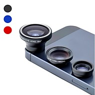 Universal Magnetic 0.67X Wide Angle and 180° Fish Eye and Macro Lens Set for Cell Phone and Digital Cameras