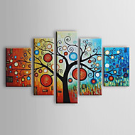 Hand-Painted Floral/Botanical Any Shape Five Panels Canvas Oil Painting For Home Decoration