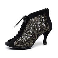 botas personalizadas latino rendas calcanhar personalizado com sapatos lace-ups de dança (mais cores)