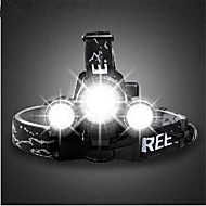 פנסי ראש / פנסי אופניים / פנס קדמי לאופניים LED Cree T6 רכיבת אופניים ניתן לטעינה מחדש 18650 3000lumens Lumens סוללהמחנאות/צעידות/טיולי