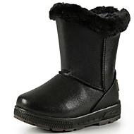 Boy's / Girl's Boots Winter Snow Boots / Round Toe Faux Suede Casual Flat Heel Black / Brown
