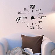 Wall Clock Stickers Wall Decals, Home Decoration DIY Clock PVC Wall Stickers