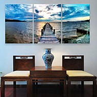 Em Canvas arte da costa set pintura decorativa, de 3 de