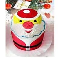 presente de aniversário de Santa forma cláusula fibra toalha criativo (cor aleatória)