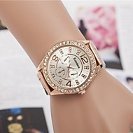 Женские Нарядные часы Модные часы Наручные часы Стразы Кварцевый сплав Группа Блестящие Серебристый металл Золотистый Розовое золото