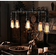 Vintage Metal Water Pipe 5-light Pendant Light