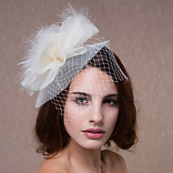 Women's Feather/Tulle Headpiece - Wedding/Special Occasion Flowers