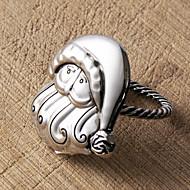 Set of 4 Santa Claus Napkin Ring,Zinc Alloy,5.5x4cm