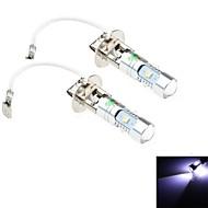 2Pcs H3 25W 5x3030 Osram SMD 2200LM 6500K Cool White Light LED for Car Headlamp / Foglight (DC 12-24V)