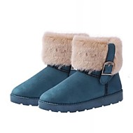 Women's Spring / Fall / Winter Snow Boots Faux Fur Casual Flat Heel Blue / Brown