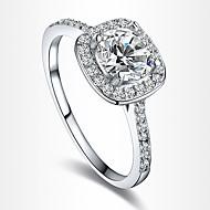 Anéis Pesta / Diário / Casual Jóias Zircão / Prata Chapeada Feminino Anéis Statement6 / 7 / 8 Transparente / Prateado