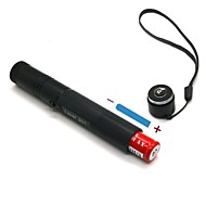 JD301 High Power Green  Adjustable Beam Laser Pointers Pen (5MW, 532nm, 1x18650 + Charger, Black)