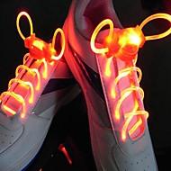 flash brilhante flash longo lento impermeável vermelho LED cadarço (1 par)