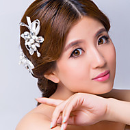 Women's Satin/Alloy/Imitation Pearl/Cubic Zirconia Headpiece - Wedding/Special Occasion Hair Combs/Flowers