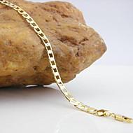 Herrn Damen Ketten- & Glieder-Armbänder Modisch Kupfer Liebe Golden Schmuck Für Party Weihnachts Geschenke 1 Stück