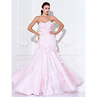 Prom / Military Ball / Formal Evening Dress - Blushing Pink Plus Sizes / Petite Trumpet/Mermaid Sweetheart / Spaghetti Straps Floor-length