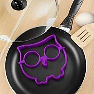 Funny Owl Egg Fry Mold Silicone Skull Animal Omelette 12.7*14*1.5cm (Random Color)