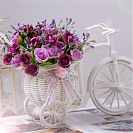 """8 """"h nowoczesne róż wielokolorowe w białym koszu rowerze"""
