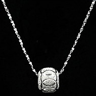 Women's Silver Platinum Plated Water Wave Necklace