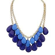 European Style Bohemian Sweet Double Drop Pendant Necklace(More Colors)