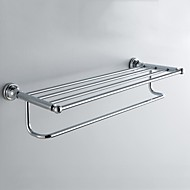 "Towel Warmer Chrome Wall Mounted 60.9*21.3*12.6cm(2.397*0.838*0.496"") Brass Contemporary"