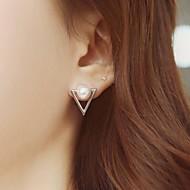 Triangle Pearl Earrings